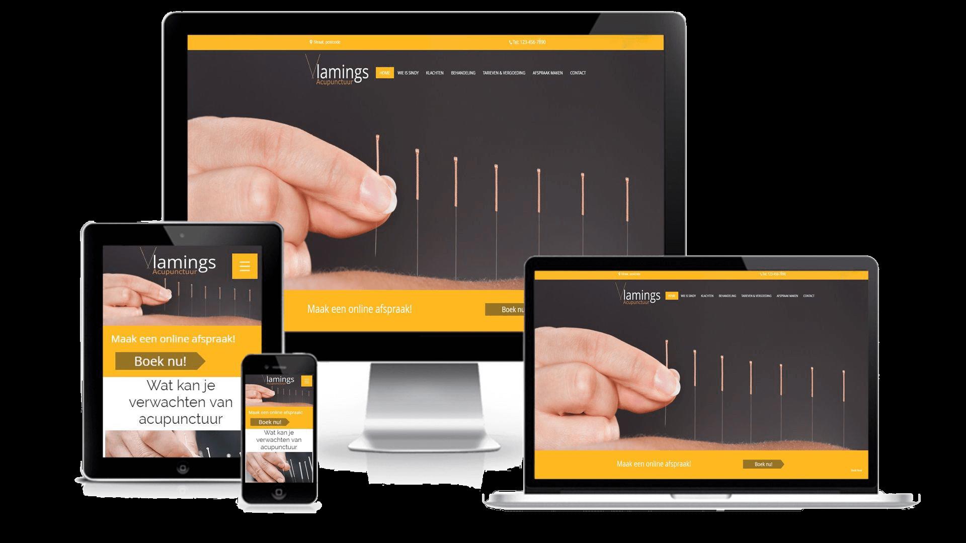acupunctuur vlamings - webdesign